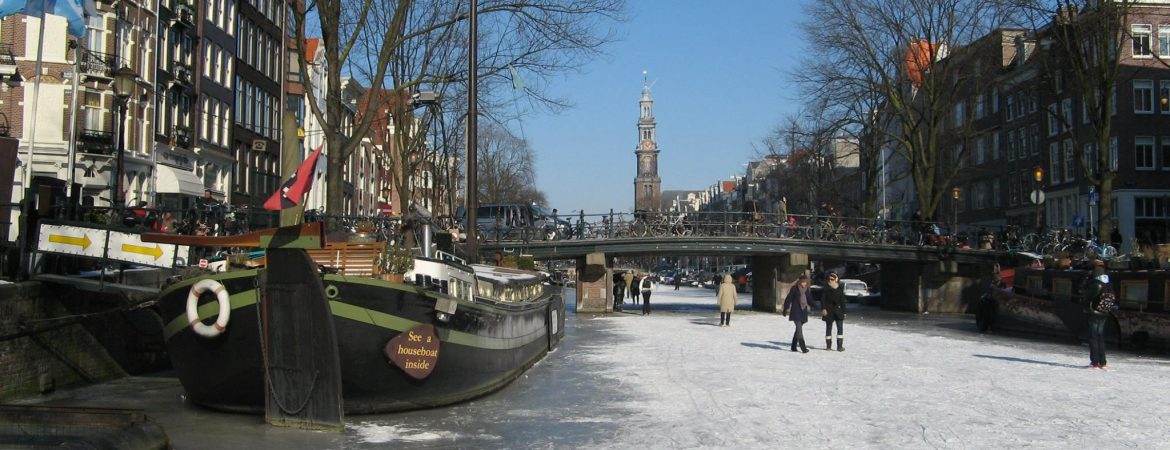 Houseboat in 2012 when the canals froze.