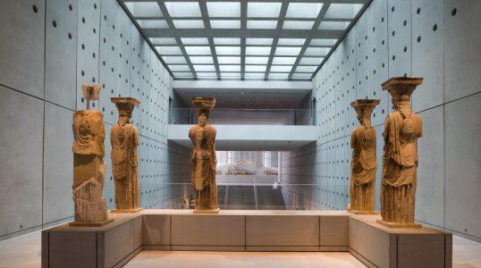 Five from the original six Karyatids, in the Acropolis Museum