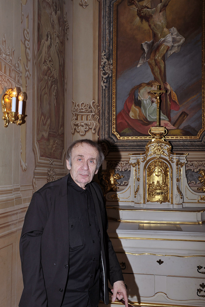 """Vito Acconci, """"Vienna For Art's Sake !"""", Winter Palace of Prinz Eugen, Belvedere, 2015 © Wolfgang Woessner"""