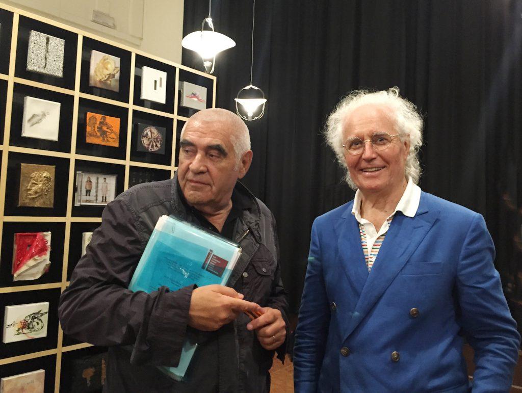 Peter Noever, Luciano Benetton, Isola San Giorgio, Venice, 2015 © Archive Fabrica, Italy