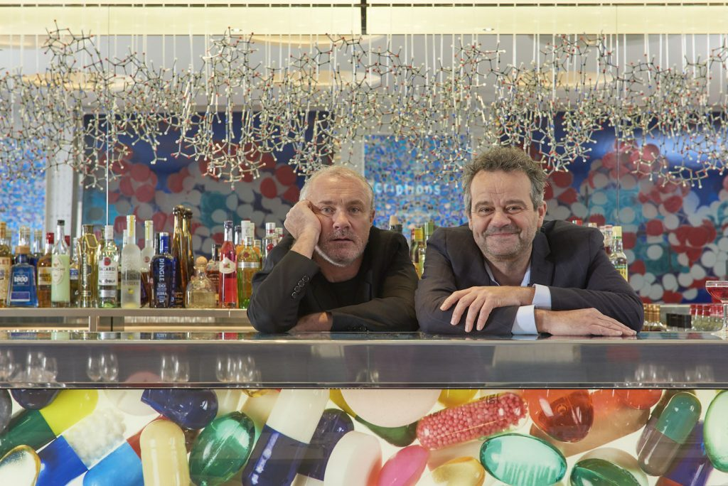 Damien Hirst and Mark Hix _Prudence Cuming Associates © 2H Restaurant Ltd. All rights reserved, 2016
