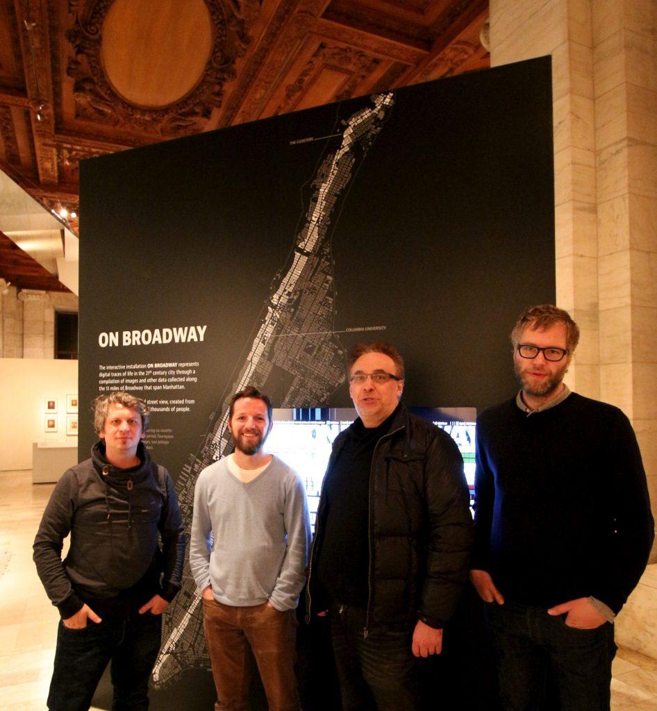On Broadway (2015), A project by Daniel Goddemeyer, Moritz Stefaner, Dominikus Baur, and Lev Manovich.
