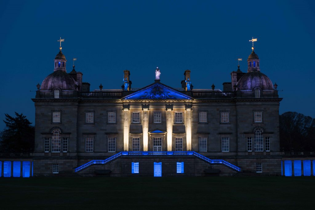 James Turrell West Façade Illumination, 2015 Photo: Hugo Glendinning. Image courtesy of the artist and Houghton Hall