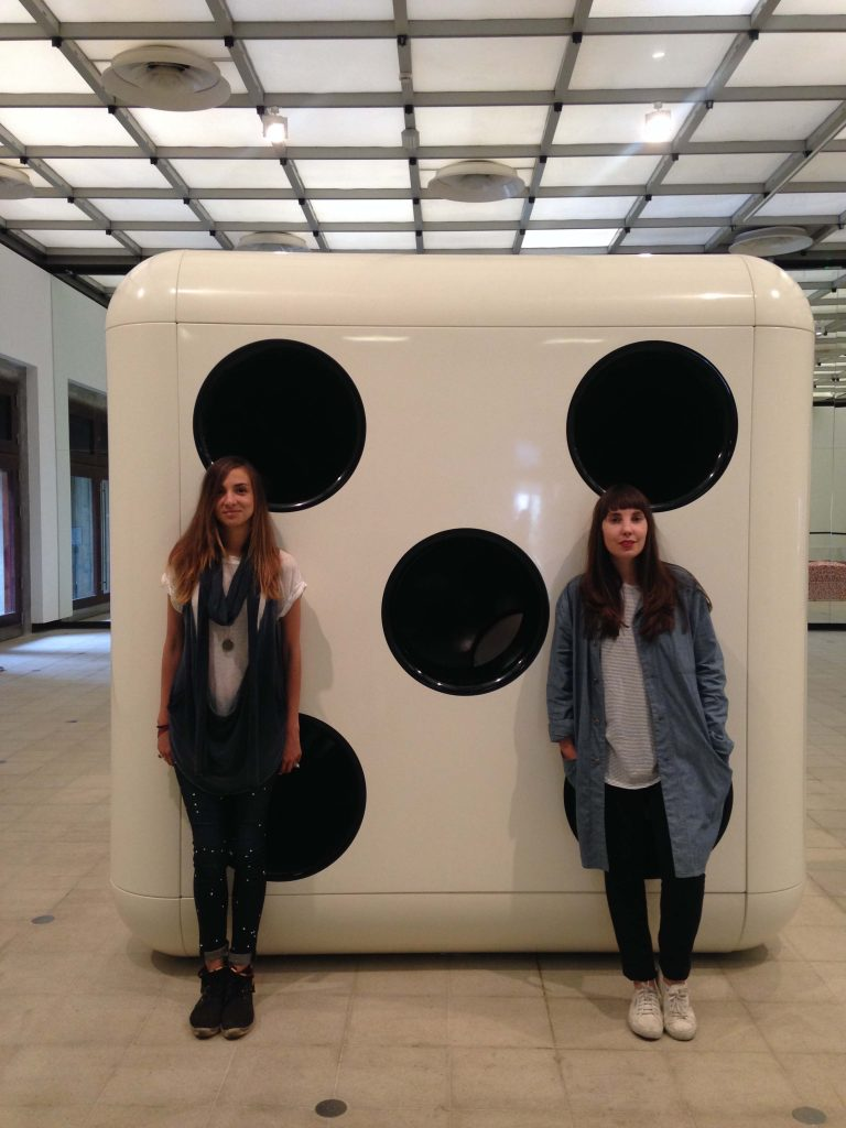 Beatrica and Victoria at the Hayward gallery, London