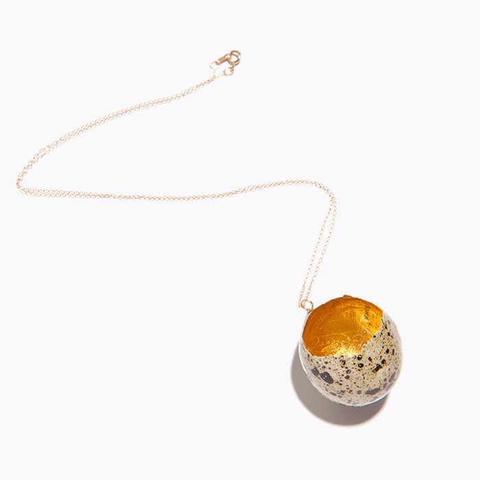 Golden Egg Necklace, Stefanie Simek